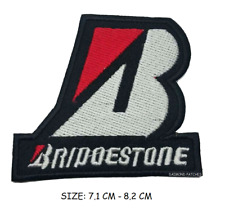 Bridgestone Black & Red Badge Embroidered Patch Sew/Iron on sports jacket