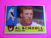 1960 TOPPS baseball Set Break #357 Al Schroll Cubs NmMt High Grade