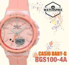 Casio Baby-G Step Tracker Running Series Watch BGS100-4A AU FAST & FREE