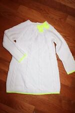 NWT Gymboree Cozy Ski Lodge Size 4T White Yellow Trim Bow Sweater Dress