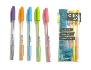 10x Linc OFFIX 2X Ball Pen BLUE | 0.7 mm | Smooth Writing | Attractive Foil Body