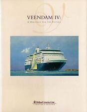 1996 VEENDAM (IV) Inaugural Season Book - Mint - NAUTIQUES sHiPs WORLDWIDE