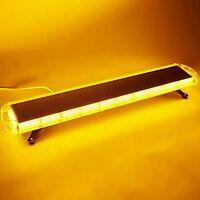 "COB LED LIGHT Bar Amber//WHITE 42/"" Inch 16 Modes Roof Top Emergency Strobe"