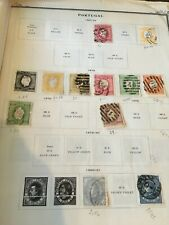 40+ Used Portugal very old, unique Stamps from 1867 to 1887
