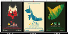 The legend of Zelda Classic ( Triple Poster Set ) 24 in x 16 in - ( SET 1 OF 3 )