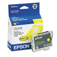 Genuine EPSON T0444 Ink Cartridge Yellow New In Box: C64 C66 C84 C86 CX4600
