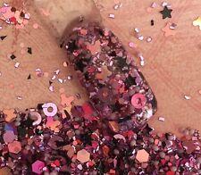 glitter mix nail art acrylic gel   ROSE CHROME Limited Edition