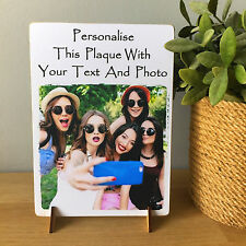 "8x6"" Freestanding Personalised Plaque with Photos friendship birthday gift NEW"