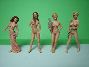 1/43  O SCALE  FIGURES  NUDE GIRLS  SET 103  VROOM  UNPAINTED  FOR  MINICHAMPS