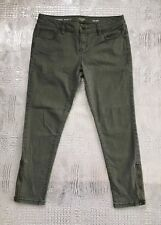 a.n.a. Petite Skinny Ankle Jeans Olive Green Ankle Zip Women's Size 29/8 P