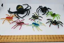 8x Spider Insect Figure toy plastic bundle