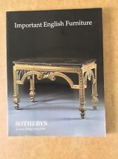 IMPORTANT ENGLISH FURNITURE ~Sotheby's catalogue of auction 9July 1999, London
