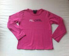 Ralph Lauren! schickes Basic Shirt mit XXL Logo Druck in pink! Gr. 5/ 2-4 Jahre
