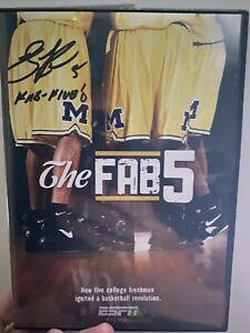 Jalen Rose Michigan Wolverines Signed / Autographed Fab Five DVD w/ Inscription