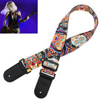 Nylon Guitar Strap Colorful Guitar Belt for Acoustic Electric Guitar Bass