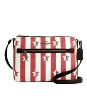 COACH AMERICANA GALLERY FILE CROSSBODY BAG STAR STRIPE  $278 NWT red white 2863