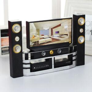 UK - Dolls House Miniature Mini TV Dollhouse Accessories Dolls Living Room Decor