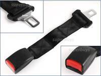 """25mm 1"""" Tongue 35cm Flexible Strap Seat Belt Extension Extender Restraint Clip"""