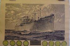 Victory Ship | World War II | Service Citation - Original 1944 Print