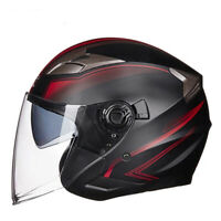 DOT Motorcycle Open Half Face Jet Helmet Motobike 3/4 Scooter Bike Helmets