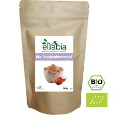 Bio Traubenkernmehl OPC Traubenkern Extrakt Pulver 500g Großes Pack eltabia