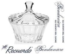 BOMBONIERA Made in Italy COPPA in FINE CRISTALLO PORTA DOLCI CIOCCOLATINI PR489