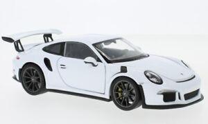 Porsche 911 (991) GT3 RS weiss  2015 - 1:24 Welly    *NEW*
