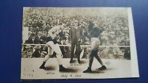 Vintage Original Boxing Postcard: Jack Johnson-James Jeffries. Dana Photo. Reno.