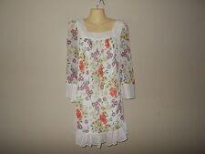 Jovovich Hawk Womens Size M Mini Flora Shift Dress Lined Semi-Sheer