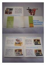Piccola pubblicità avvertising Corredi Foto KODAK Instamatic, anni '70?
