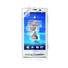 Housse coque étui pour Sony Ericsson Xperia X10 violet + film écran + stylet