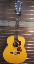Guild F-2512E Westerly 12-String Jumbo Solid Top A/E Guitar w/Bag Blem #CH141