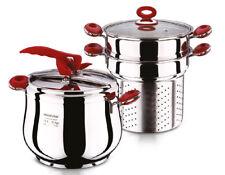 5 in 1 Cookware Set Pressure Cooker Pasta Cooking Pot Vegetable Steamer Stockpot