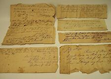 Lot of 6 Antique Documents ~ 1800-1818 ~ Receipts ~ Philadelphia