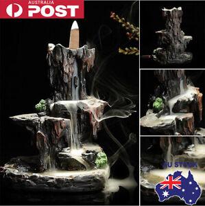 Ceramic Mountain Waterfall Smoke Backflow Incense Burner Cones Holder