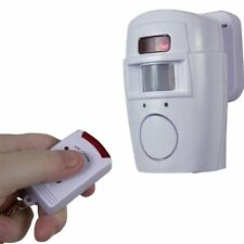 U.S. Patrol Feel Safe and Secure Anywhere with 2 In 1 Motion Alarm/Chime, White