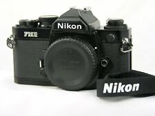 Nikon FM2N 35mm SLR Film Camera Body Only W/Strap/Black and NrMint