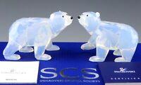 Swarovski Crystal Figurine #1080774 POLAR BEAR CUBS WHITE OPAL Mint Box COA