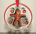Kosta Boda 2004 Gingerbread Man Christmas Ornament w/ Box