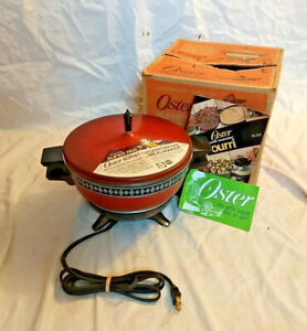 Vintage NOS Red Oster Pot Pourri Fondue Hot Pot