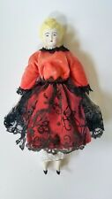 """14"""" Antique China Doll, excellent condition, china head (blonde), arms and legs"""