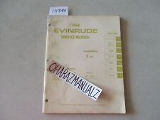 1968 EVINRUDE 6 HP Fisherman Motor Engine Service Manual