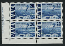 "Canada 464iii BL Block Plate 2 MNH ""The Ferry"", Quebec, Art"