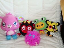 Bundle Of 5 Moshi Monsters Soft Plush toys. Poppet, Purdy, Jeepers,Diavlo