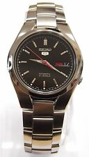SNK607 SEIKO 5 Stainless Steel Band Automatic Men's Black Watch SNK607K1 New !