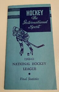 1960-61 National Hockey League Final Statistics booklet - Issued by the NHL