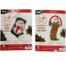 Elf On The Shelf Bucilla Advent Calender & Stocking Kit Lot of 2 New Sealed