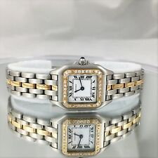 CARTIER PANTHERE W/DIAMONDS watch NICE Stainless 18KGold Watch CARTIER PANTHERE