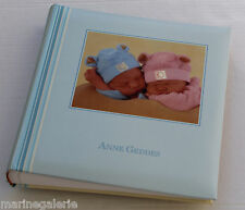 Album photo Anne Geddes bébé traditionnel feuille classique grand 400 10x15 bleu