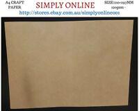 10 Sheet A4 Kraft Paper - 120 Gsm - Printer Compatible Craft work - 210 × 297 mm
